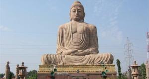 india, budista, estatua, circuito, turismo
