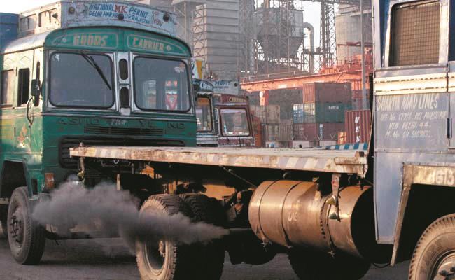 truck pollution india