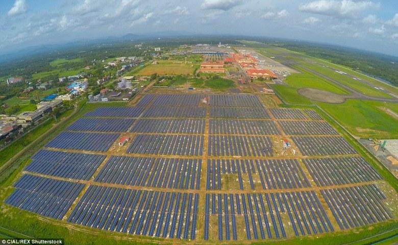 cochin solar airport india