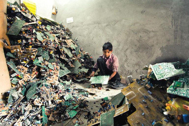 basura electronica india